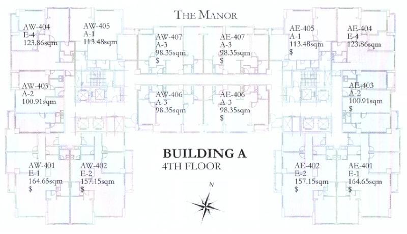 Mặt bằng dự án The Manor